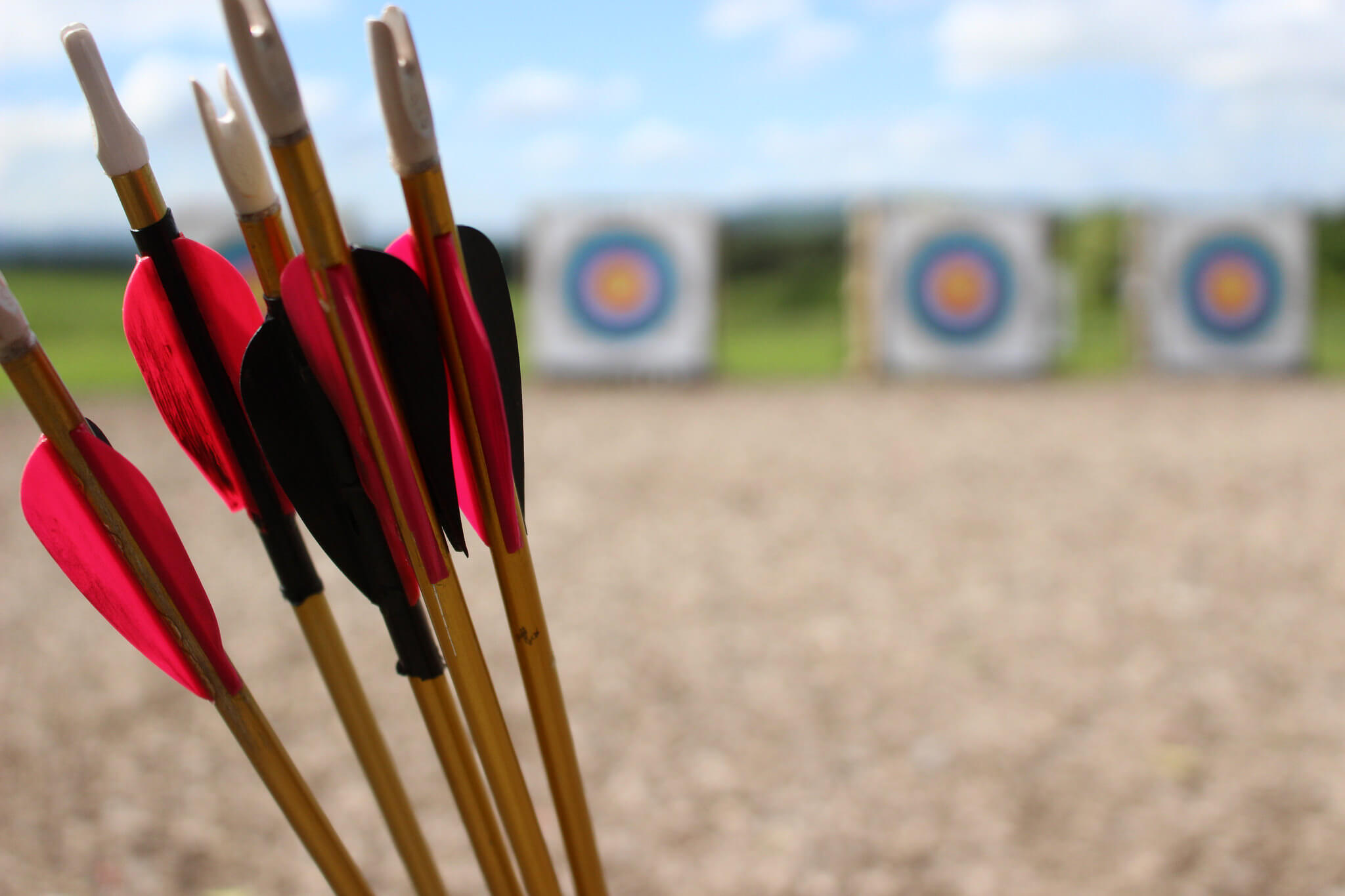 Arrows in front of targets