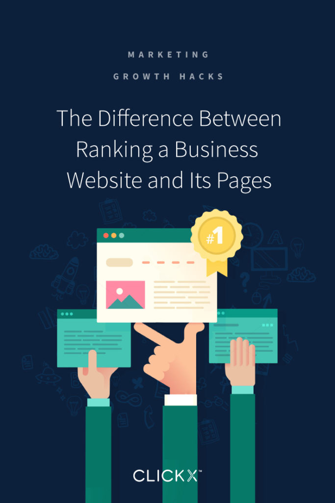 The Difference Between Ranking a Business Website and Its Pages