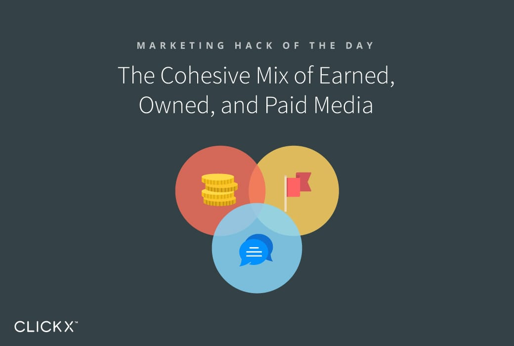The Cohesive Mix of Earned, Owned, and Paid Media | Clickx.io